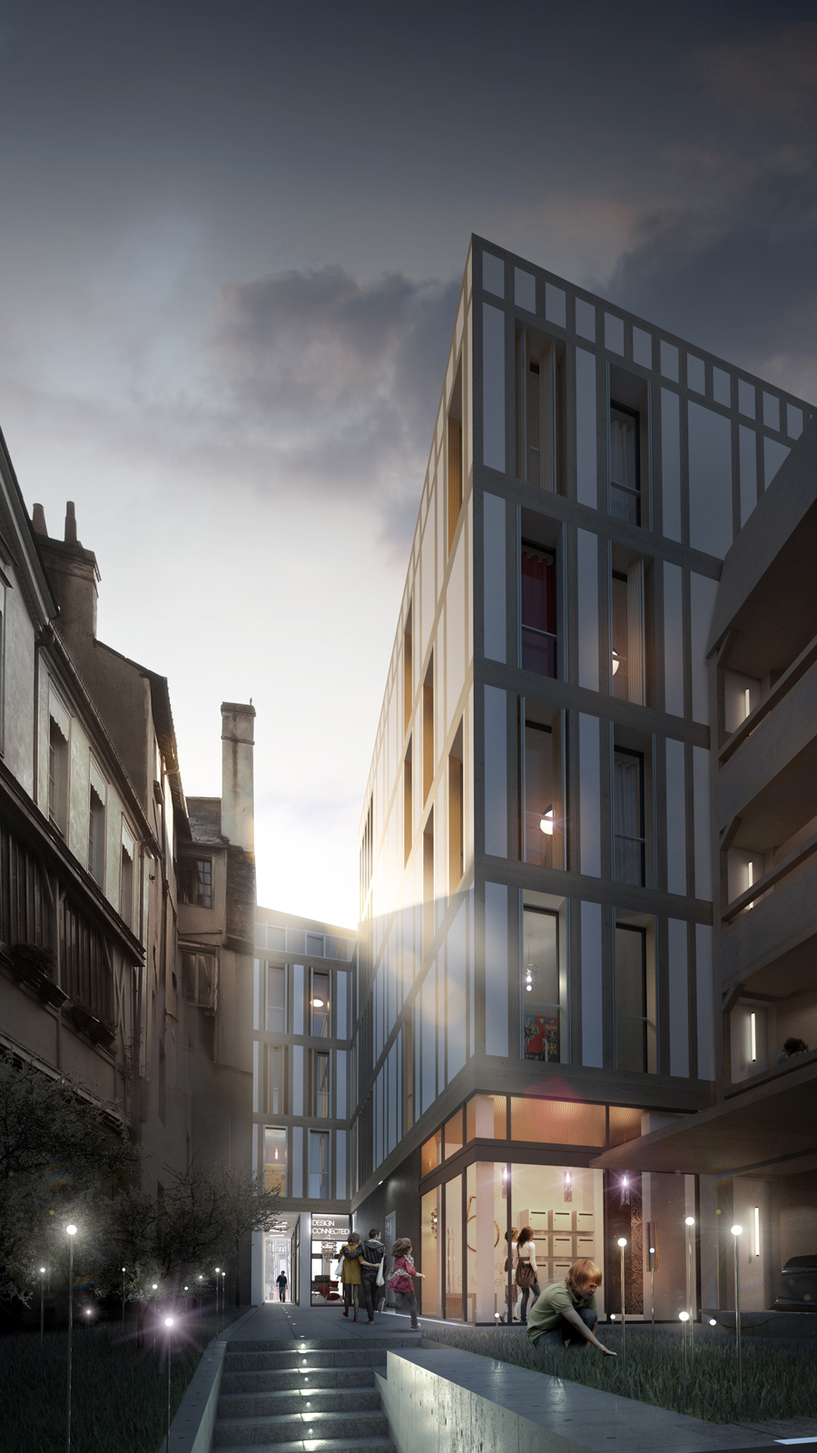 Housing commercial elsaa architects rennes fr for Architecture rennes